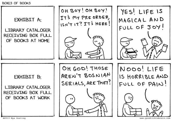 Boxes of Books comic from Good Tickle Brain